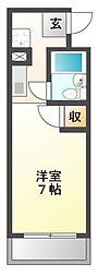 KMハイツ[3階]の間取り