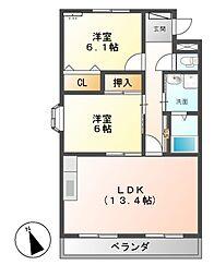 スカイふじ[1階]の間取り