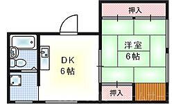 梅香3丁目マンション[2階]の間取り