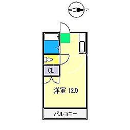 クラウン朝倉[3階]の間取り