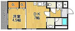 エクシージュ武庫川[1階]の間取り