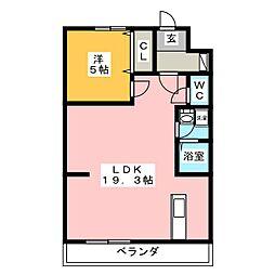 日和マンション[1階]の間取り