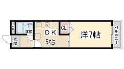 兵庫県伊丹市鋳物師町3丁目の賃貸マンションの間取り