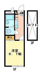 兵庫県三木市本町3丁目の賃貸アパートの間取り