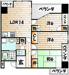 つる平本館ビル[4階]の間取り