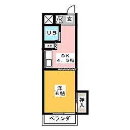 エクセル東和[2階]の間取り