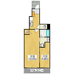 カーサアルドーレ1[1階]の間取り