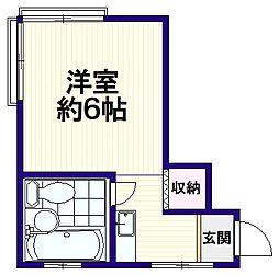 八千代荘[2階]の間取り