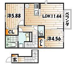 仮)D-room下石田[2階]の間取り