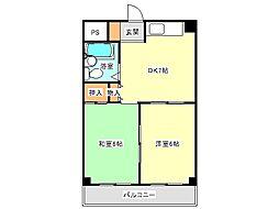 兵庫県神戸市垂水区舞子台1丁目の賃貸マンションの間取り