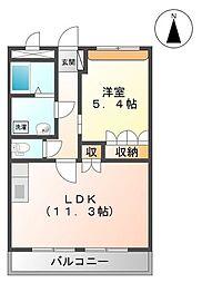ディモア・t[2階]の間取り