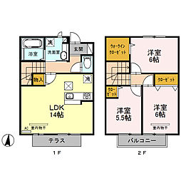 (仮)今羽町D-room新築工事[102号室]の間取り