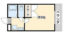m&f[302号室]の間取り