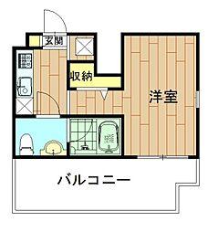 神奈川県川崎市幸区鹿島田1丁目の賃貸マンションの間取り
