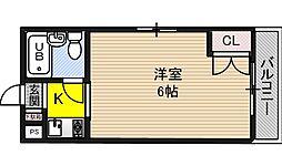 下新庄シングルハイツ[3階]の間取り