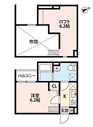 兵庫県尼崎市宮内町3丁目の賃貸アパートの間取り