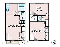 [テラスハウス] 東京都町田市成瀬5丁目 の賃貸【/】の間取り
