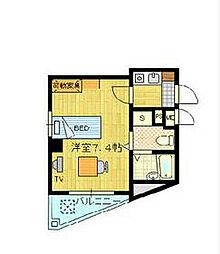 JR総武本線 稲毛駅 徒歩2分の賃貸マンション 3階ワンルームの間取り
