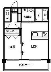 テンダーマンション3[205号室]の間取り