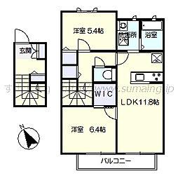カーサドマーニB棟[2階]の間取り