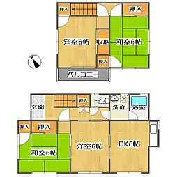 [一戸建] 広島県福山市新涯町5丁目 の賃貸【広島県 / 福山市】の間取り