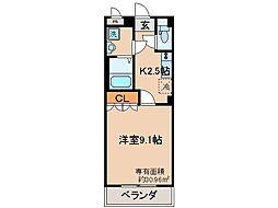 近鉄京都線 大久保駅 バス15分 ジャスコ久御山店前下車 徒歩3分の賃貸マンション 1階1Kの間取り