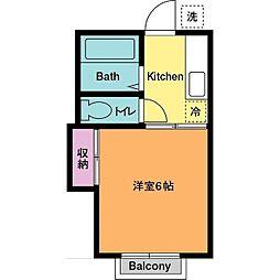 久保田ハイツ[2階]の間取り