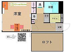 JR横浜線 相原駅 バス8分 境橋下車 徒歩5分の賃貸アパート 1階1Kの間取り