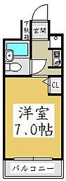 コスモプレイス蕨[1階]の間取り
