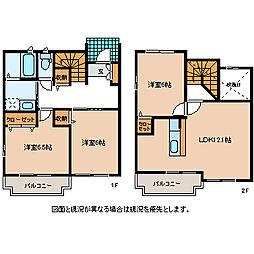 長野県岡谷市上の原の賃貸アパートの間取り