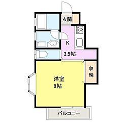 三豊ハイツ[1階]の間取り