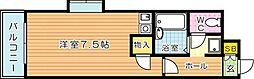 オリエンタル折尾[3階]の間取り