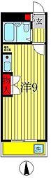 ジュネパレス松戸第17[2階]の間取り