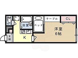 JR東海道・山陽本線 摂津富田駅 バス10分 奈佐原下車 徒歩3分の賃貸アパート 2階1Kの間取り