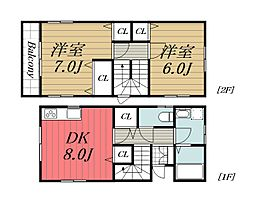 [一戸建] 千葉県千葉市稲毛区小仲台9丁目 の賃貸【/】の間取り