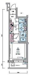 JR山手線 目黒駅 徒歩9分の賃貸マンション 2階1Kの間取り