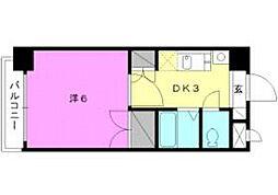 ロイヤルハイツ清水町[206 号室号室]の間取り