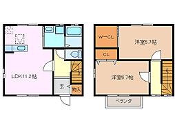 [テラスハウス] 三重県鈴鹿市下箕田4丁目 の賃貸【/】の間取り
