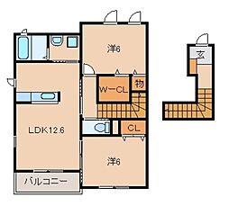 和歌山県和歌山市葵町の賃貸アパートの間取り