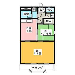 グラッツ アモーレ大垣[4階]の間取り