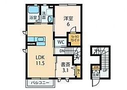 ファミールM 新築[2階]の間取り