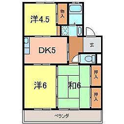 湫マンション[1階]の間取り