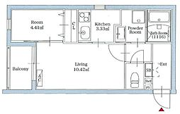リアンレガーロ平尾ステーション 1階2Kの間取り