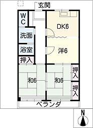 旭町団地ビル[2階]の間取り