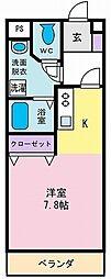 KSマンション[1階]の間取り