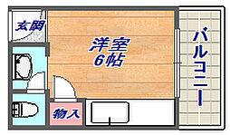 プチシャトー徳井[35号室]の間取り