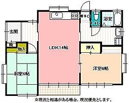 [一戸建] 長野県飯田市下殿岡 の賃貸【/】の間取り