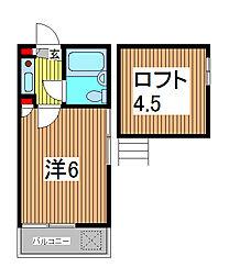 アミューズメント芝高木C棟[1階]の間取り
