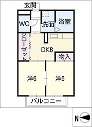 サンシャインII[1階]の間取り