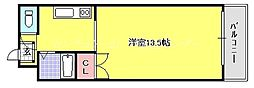 岡山県岡山市北区蕃山町の賃貸マンションの間取り